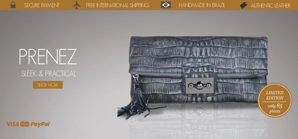 prenez leather clutch